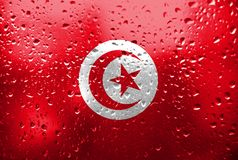Texture of Tunisia flag. royalty free stock images