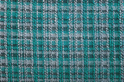 Texture of turquoise tartan fabric. Useful as a background Royalty Free Stock Photos