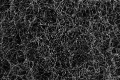 Texture twisted wire black with silver closeup. royalty free stock image