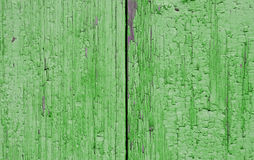 Texture two boards painted in green Stock Photography