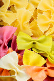 Texture from two different farfalle pasta Stock Photos