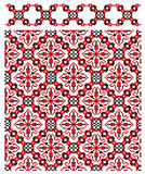 Texture ukrainian embroider Royalty Free Stock Images