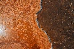 Texture unique de surface de lac de sel Photos stock