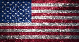The texture of the USA flag stock photography