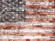 Texture - USAflagbrickwall Stock Image
