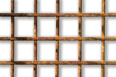 Rusty lattice on a white background. royalty free stock image