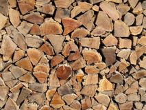 Background, texture of stacked logs stock photography