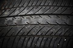 Texture of used car tire Royalty Free Stock Photo