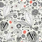 Texture végétale avec des coléoptères Images stock