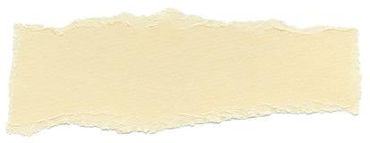 Isolated Fiber Paper Texture - Vanilla XXXXL. Texture of vanilla fiber paper with torn edges. Isolated on white background Stock Photos