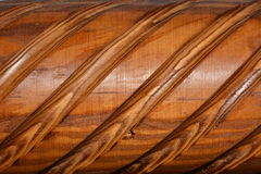 Texture - varnished carved wood Stock Photography