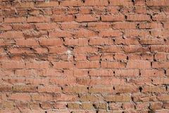 Texture velho, tijolo, parede desigual com quebras imagens de stock