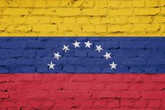Texture of Venezuela flag royalty free stock photography