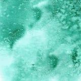 Texture verte d'aquarelle de turquoise Photo libre de droits