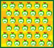 Texture verte de fond d'Apple Photo libre de droits
