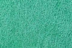 Texture verte de la surface d'éponge de mousse Photos libres de droits