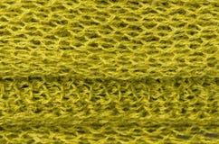 Texture verte de laine Photographie stock libre de droits