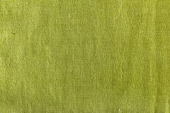 Texture verte de lin textile Images libres de droits