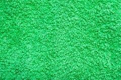 Texture verte de serviette de coton Photos libres de droits