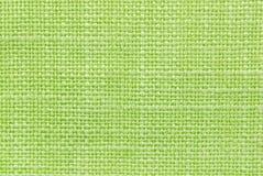 Texture verte de tissu Photographie stock libre de droits