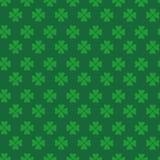 Texture verte de trèfle, saint Patrick Day Seamless Pattern Background avec des feuilles d'oxalide petite oseille Photographie stock libre de droits