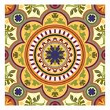 Texture verte et jaune de feuille, bakcground floral d'automne sans couture pour le tissu illustration stock
