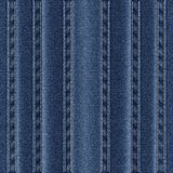 Texture vertical seams on denim. Vector illustration Royalty Free Stock Photography