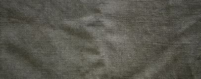 The texture of a very old brown sack cloth. Retro texture with canvas material. Background image with copy space.  stock photo