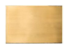 Texture vide en laiton brillante de signe en métal photos stock