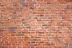 Texture vintage brick wall, background red stone urban surface royalty free stock image