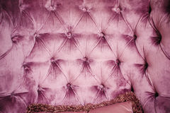 Texture of vintage buttoned textile stylish upholstery.  Royalty Free Stock Photo