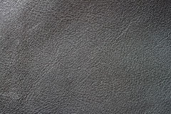 Texture of vintage genuine leather close-up, black color. For romantic background , backdrop, substrate, composition use Royalty Free Stock Image