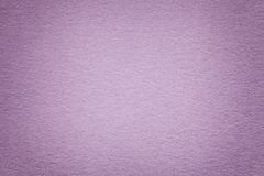 Texture of old purple paper background, closeup. Structure of dense cardboard. Texture of vintage light purple paper background with vignette. Structure of dense royalty free stock photo