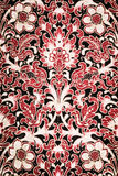 Texture of vintage print fabric striped flower Stock Photo