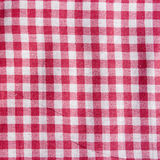 Texture of a vintage red and white checkered tablecloth. Stock Photography