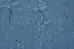 Texture of vintage rusty blue iron wall background with many layers of paint. And rust royalty free stock image