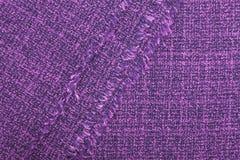 Texture violette de tissu pour le fond Photographie stock libre de droits