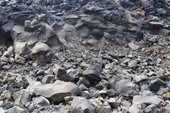 The texture of the volcanic stone from the island of Santorini. Royalty Free Stock Photo