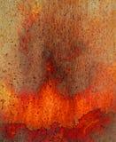 Texture volcanique d'image de rouille rouge vibrante Photos libres de droits