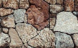 Texture volcanique traditionnelle de pierres d'île de Jeju Photo stock