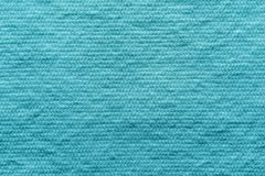 Texture wadded fabric of azure color Royalty Free Stock Photo