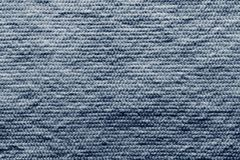 Texture wadded fabric of blue color Royalty Free Stock Image