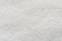 Texture wadded fabric of white color Royalty Free Stock Images
