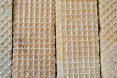 Texture of wafers. Photo waffle texture close-up view from above Royalty Free Stock Images