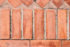 Texture of walkway, red bricks walkway Stock Photo