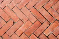 Texture of walkway, red bricks walkway Royalty Free Stock Photography