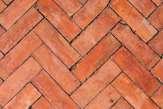 Texture of walkway, red bricks walkway Stock Images