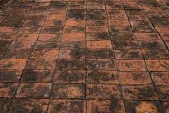 Texture of walkway, red bricks walkway Royalty Free Stock Photos