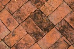 Texture of walkway, red bricks walkway Royalty Free Stock Photography