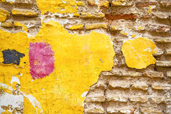 Texture wall in africa morocco yellow Stock Image